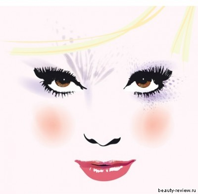 макияж для блондинки с карими глазами