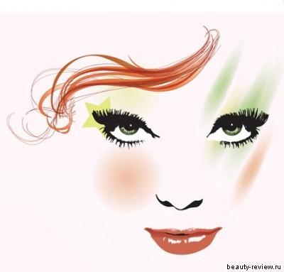 макияж для шатенки с зелеными глазами