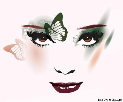 макияж для темно-рыжих с карими глазами