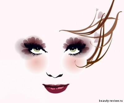 макияж для темно-русых с зелеными глазами