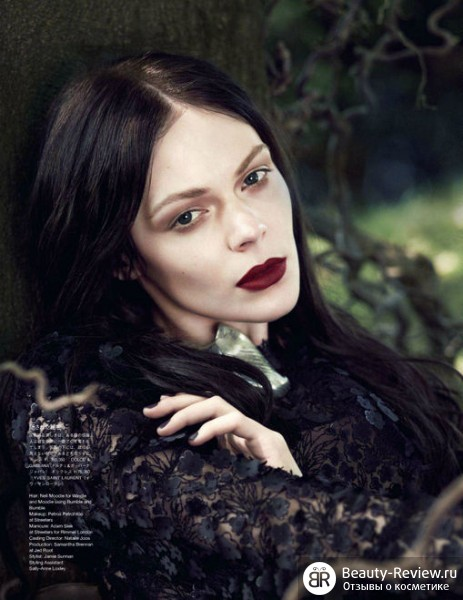 Тенденции макияжа осень 2012 — акцент на губы