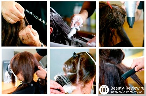 Процедура восстановления волос