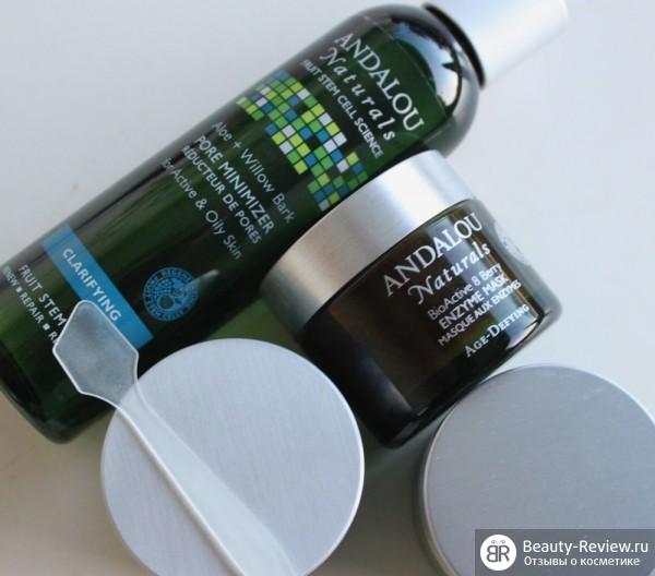 Тоник Andalou Natural Pore Minimizer и энзимная маска Andalou Naturals Bioactive 8 Berry Enzyme Mask